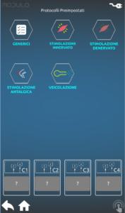 Modulo schermata selezione modalità operativa