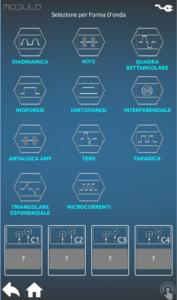 Modulo schermata selezione correnti
