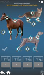 Modulo schermata selezione animali